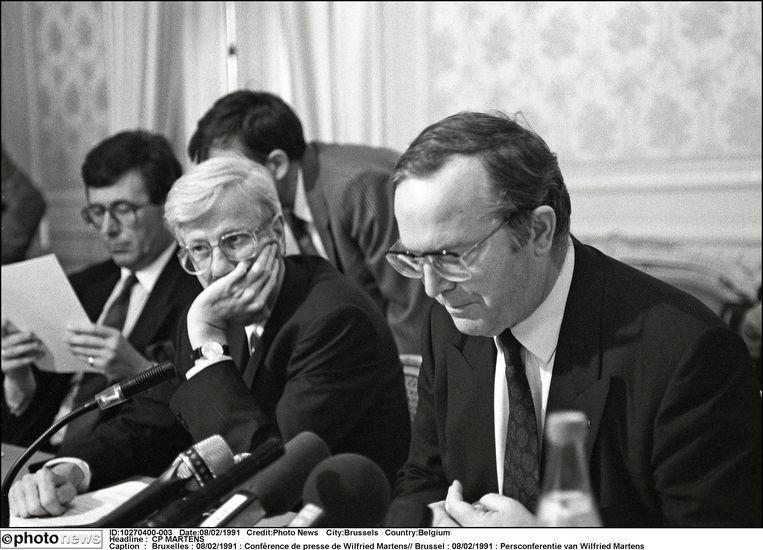 Philippe Moureaux als minister in 1991. Beeld Photo News