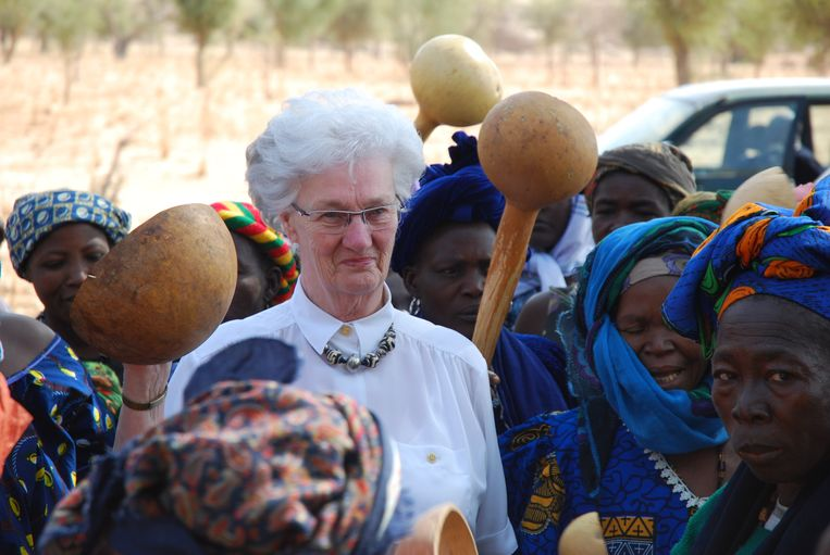 Gonny van Stigt in Mali, februari 2012. Beeld Familie Van Stigt