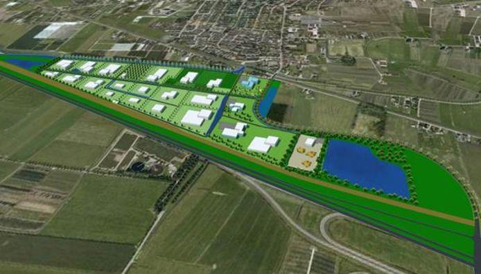 Een impressie hoe het Agro Business Centre in Opheusden eruit komt te zien.