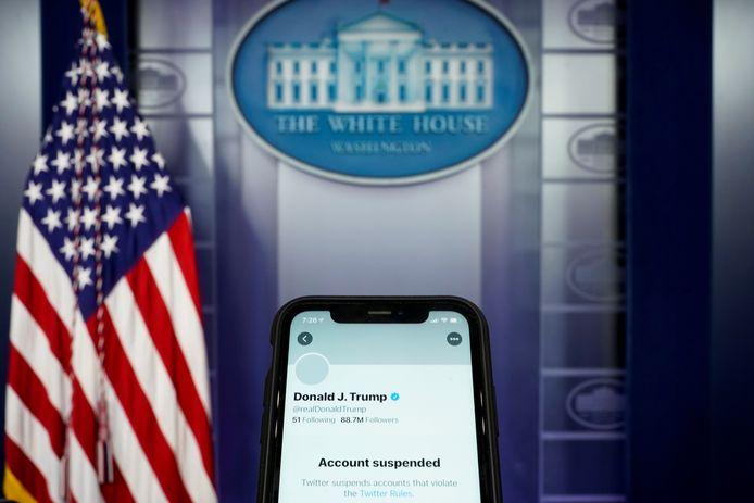 Het Twitter-account van Trump is verwijderd