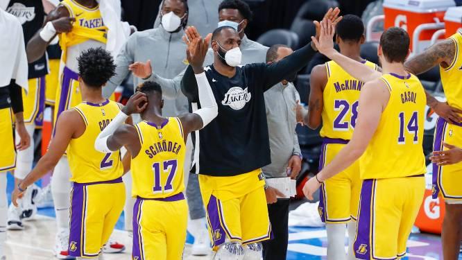 Lakers pakken uit met ferme zege, ook Dallas blijft winnen in NBA