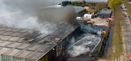 Grote brand verwoest deel van kwekerij in Ens