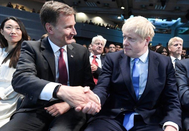 Jeremy Hunt moest het onderspit delven voor Boris Johnson.