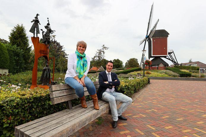 Wilma Kerkhof en Ronald Damen in Mierlo.