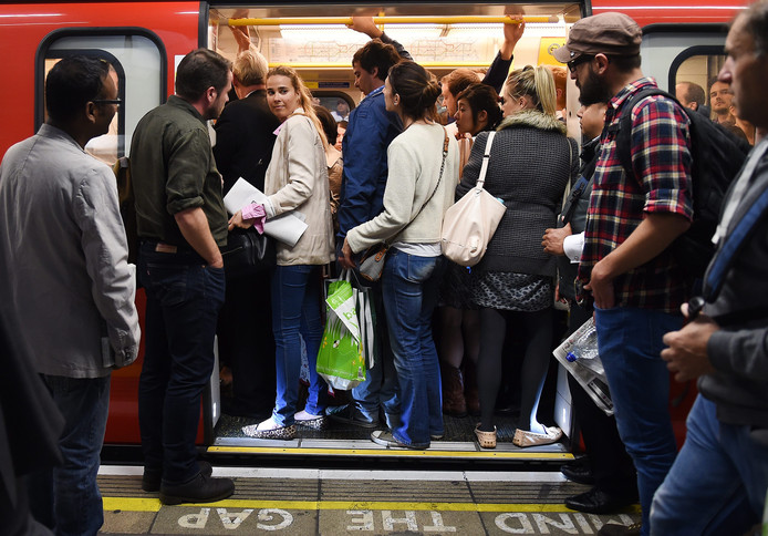 Westminster station in Londen