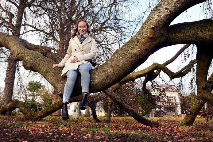 Bibiche Oldenburg bij B&B Villa Heidetuin in Bergen op Zoom waar ze een bijbaantje heeft.