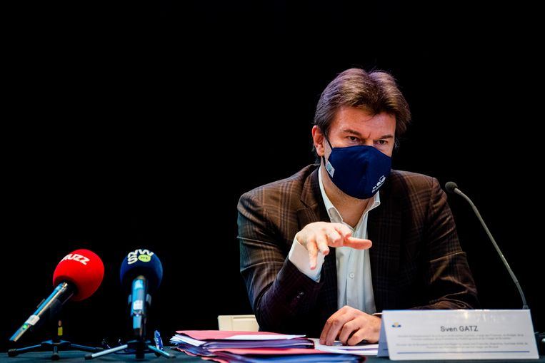 Toenmalig vlaams minister van Jeugd Sven Gatz (Open vld): 'Met het dossier was toen niets aan de hand. De controle is niet aan mij, maar aan de administratie.' Beeld BELGA