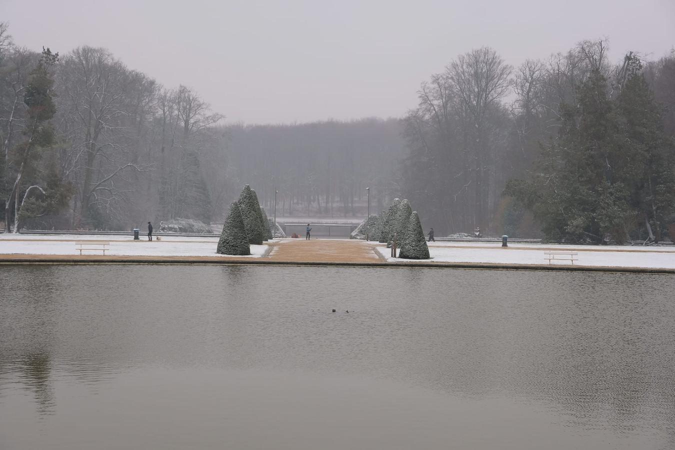 De lichte laag sneeuw levert mooie beelden op.