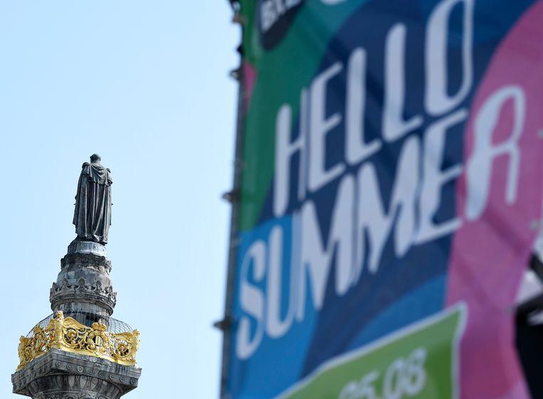 Inhuldiging van Hello Summer, het nieuwe zomerevenement van stad Brussel aan het Congresplein