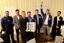 De finalisten van de ontwerpwedstrijd voor de metaalprinter bij elkaar. De winnaars ontvingen een (kunststof) 3D printer.