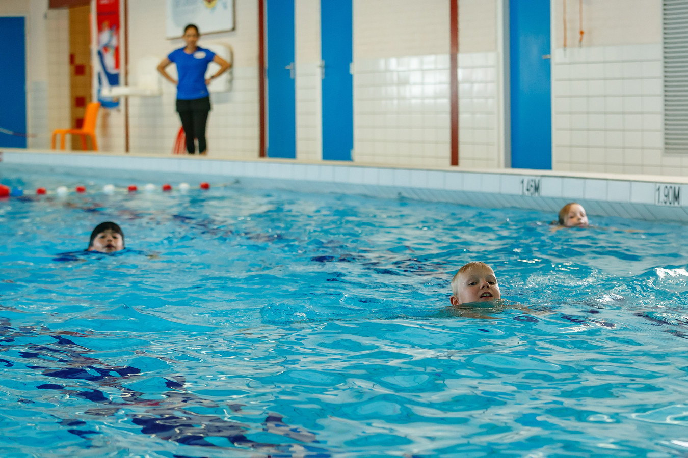 Zwemlessen elders in Nederland.