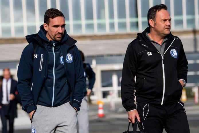 Gunther Schepens (rechts) naast Sven Kums.