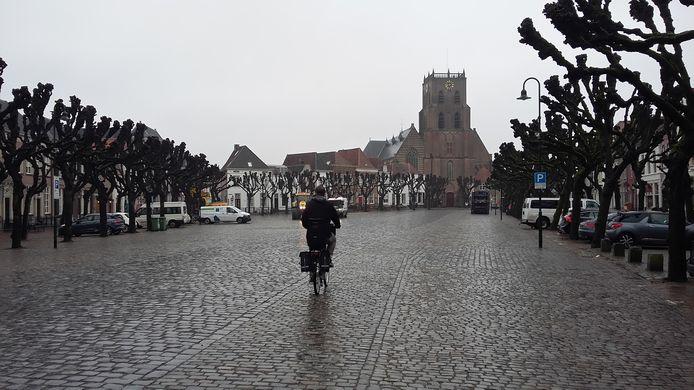 De Markt in Geertruidenberg.