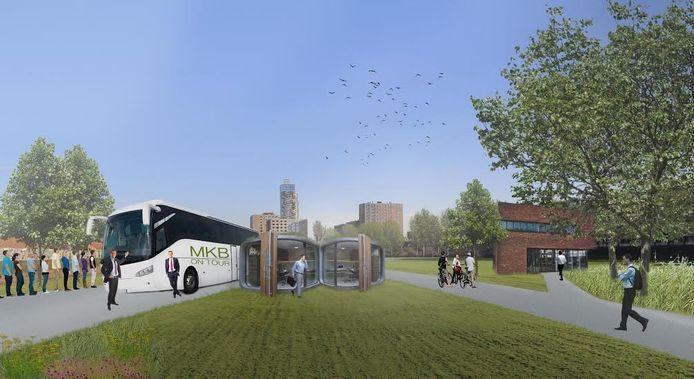 Een van de mogelijke ideeën voor het braakliggende terrein in Tilburg.