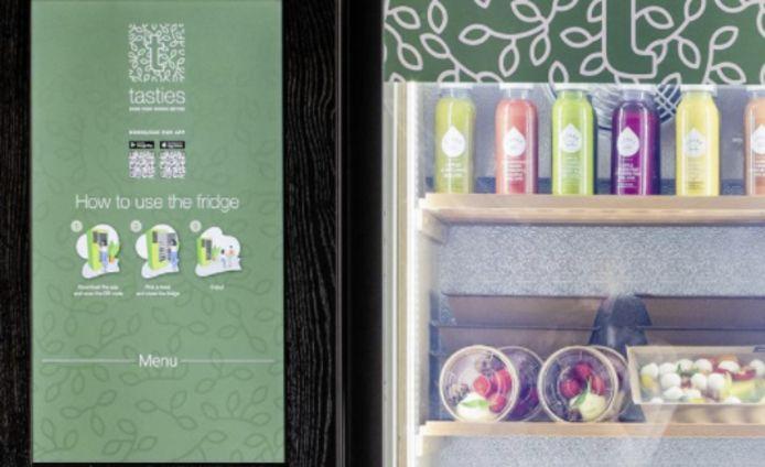 De slimme koelkast van Tasties kan geopend worden met een QR-code.