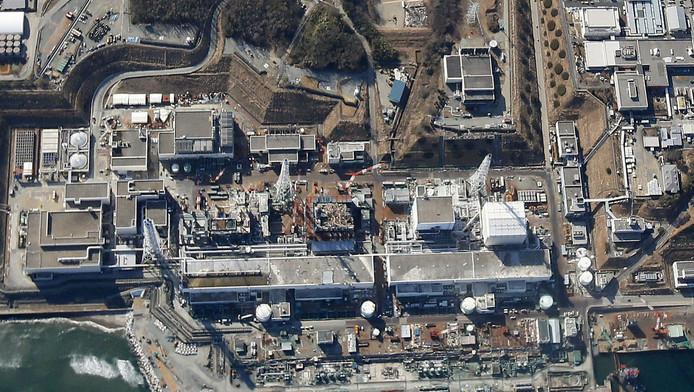 Luchtfoto van Fukushima.