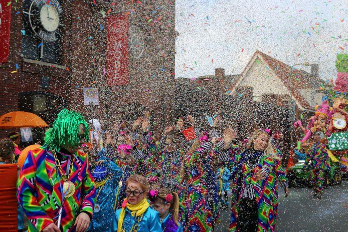 Kindercarnaval Delden. De optocht door de straten van Delden gaat dit jaar vanwege corona niet door.