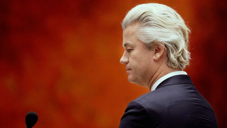 Geert Wilders tijdens de Algemene Politieke Beschouwingen. Beeld anp