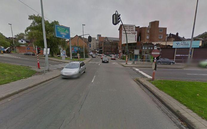 Accident au carrefour rue Saint-Marguerite/rue Louis Fraigneux, à Liège.