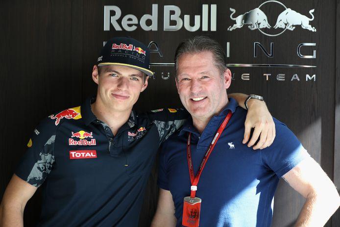 Max en Jos Verstappen.