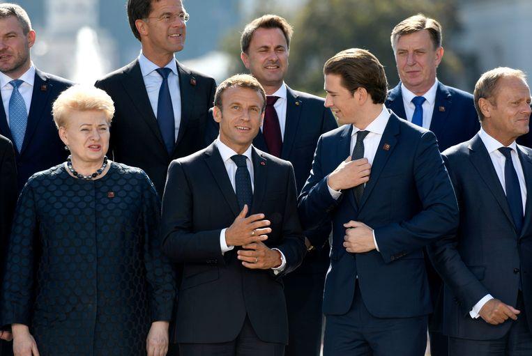 De Europese leiders komen bijeen in Salzburg. Beeld Photo News