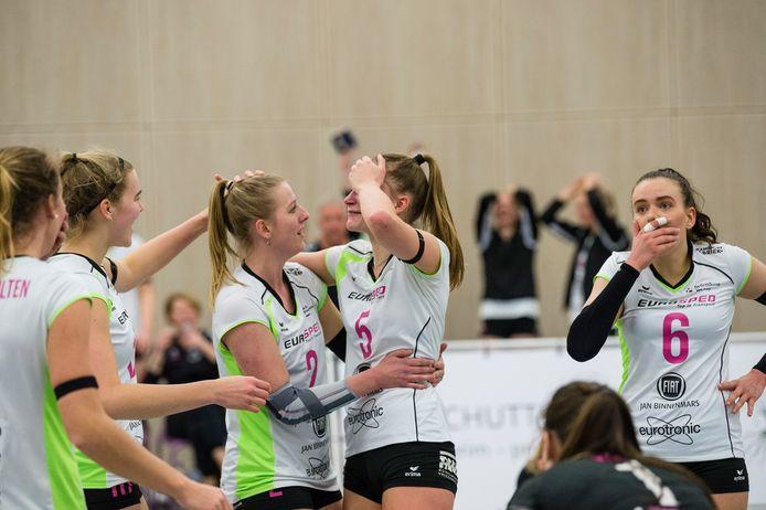 Dagmar Boom (6) keert terug in het team van Eurosped. Zaterdag is ze al inzetbaar in de uitwedstrijd tegen VCN.