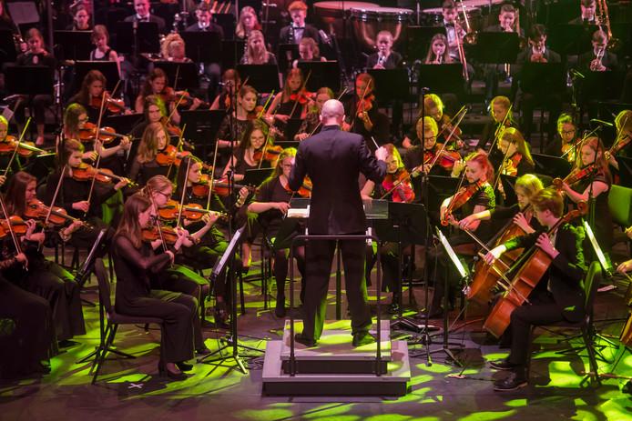 Het orkest in actie.