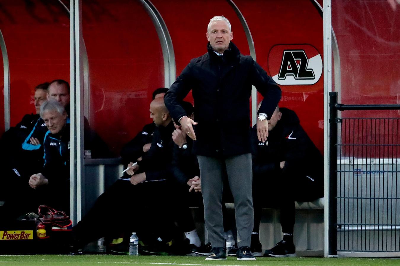 NEC-trainer Jack de Gier vond in Wijdewormer op het trainingscomplex van Jong AZ zijn Waterloo.