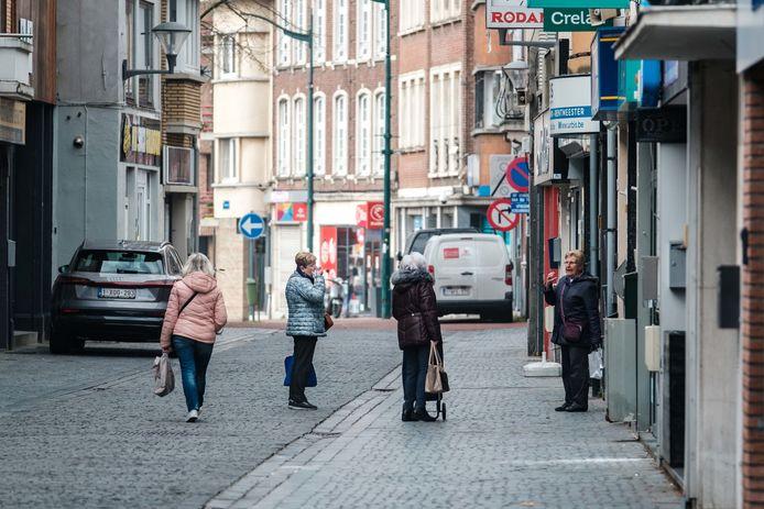 De Hoogstraat, een van de winkelstraten van Boom.