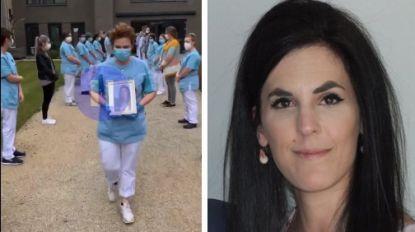 Collega's van overleden verpleegster Isaura (30) vormen indrukwekkende erehaag