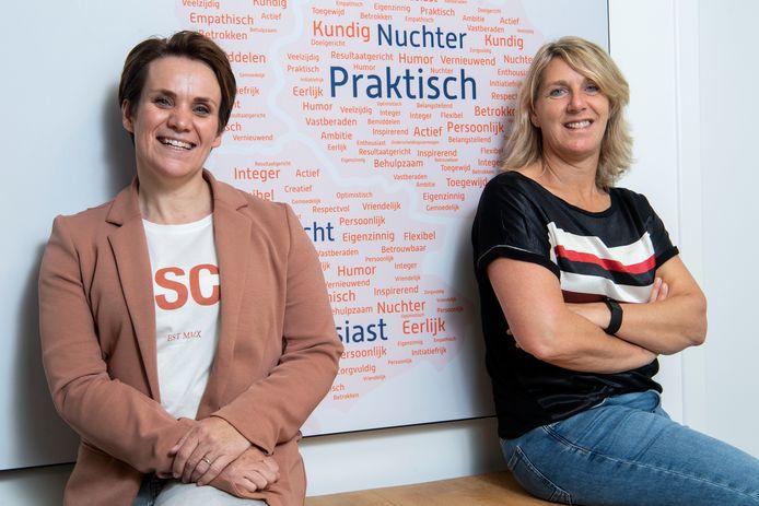 Loopbaanspecialisten Judith Geurkink (links) en Esther Buitenhuis.