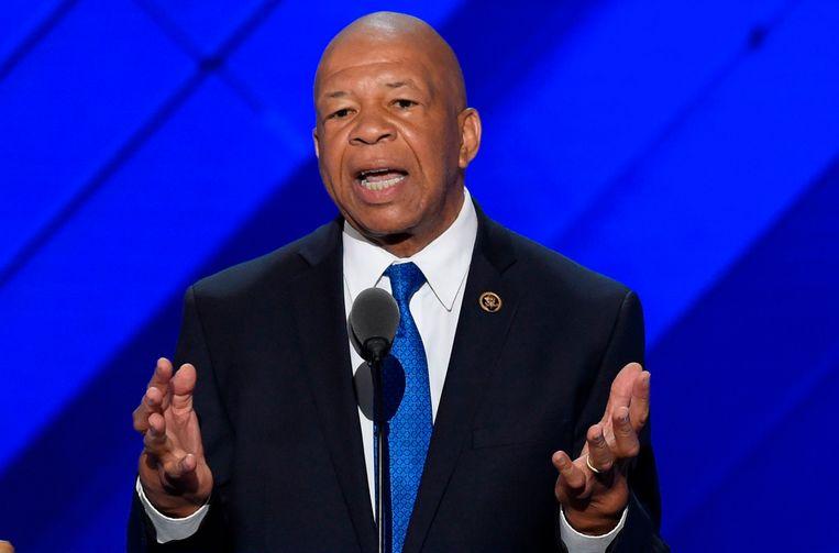 De Amerikaanse president Trump heeft de Afrikaans-Amerikaanse politicus Elijah Cummings dit weekend verbaal aangevallen.  Beeld AFP