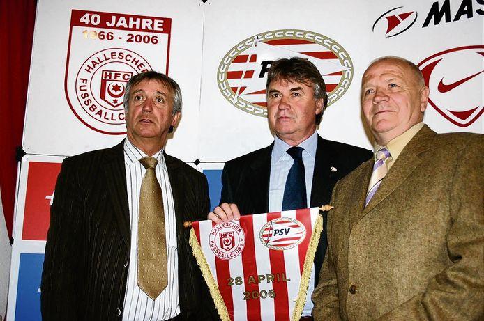 Willy van der Kuylen, Guus Hiddink en Klaus Urbanczyk.