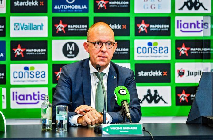 """Vincent Goemaere, voorzitter van Cercle Brugge. """"We willen vermijden dat we met lege handen achterblijven."""""""