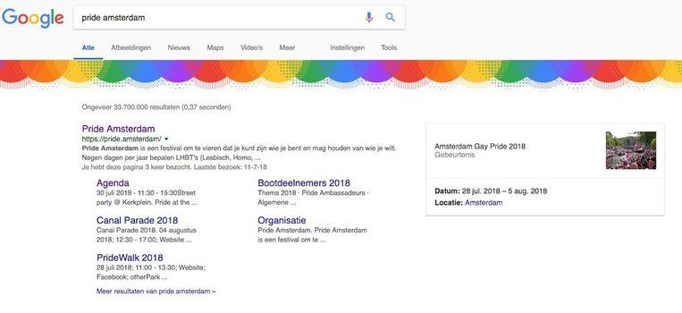 . Beeld Screenshot Google