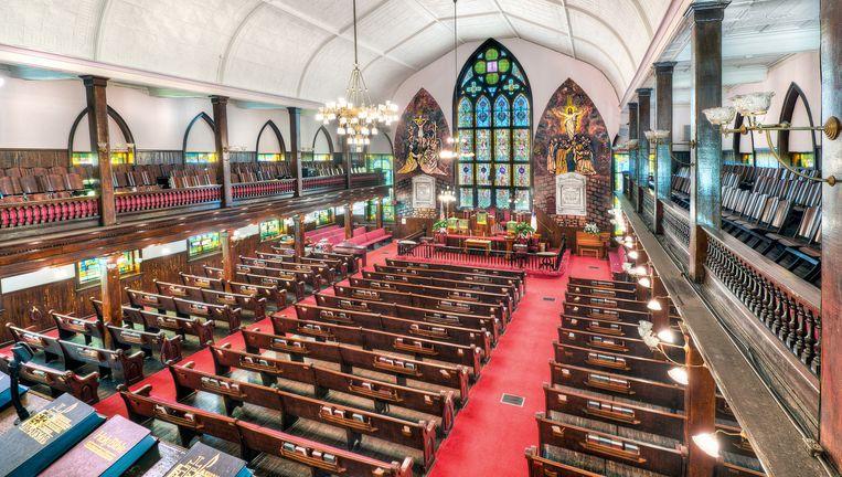 De binnenkant van de kerk in Charleston. Beeld null