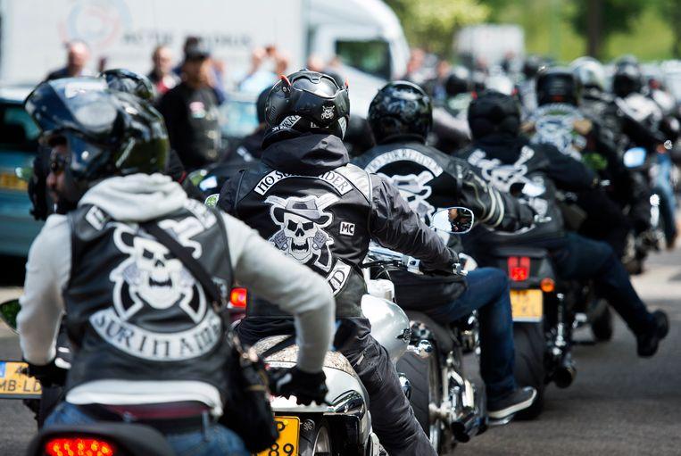 Clubleden van motorclub No Surrender. Beeld ANP