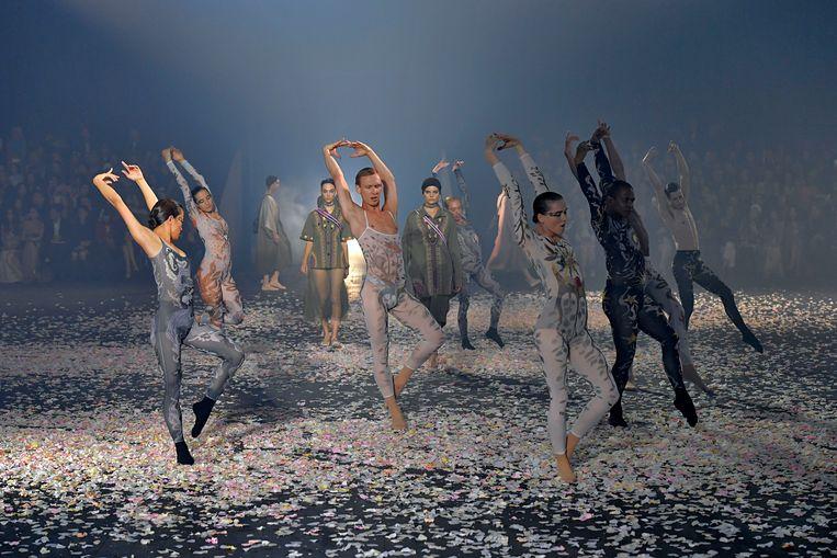 Een modeshow van Dior. Beeld Getty