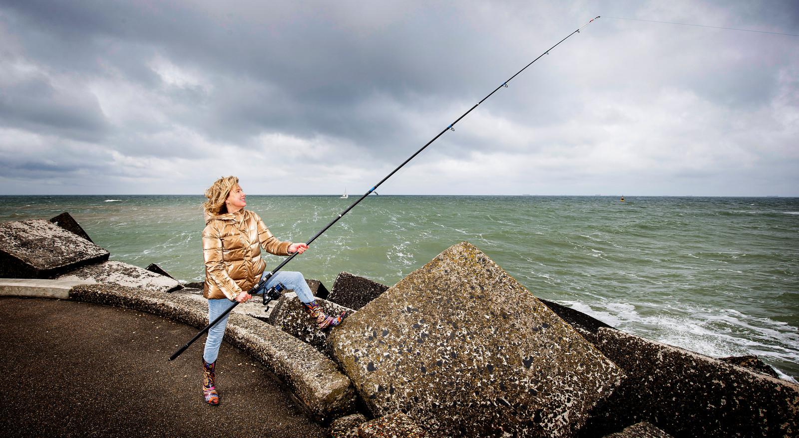 Cora van Nieuwenhuizen ziet liever vis op haar bord: ,,Ik heb niet het geduld om eindeloos naar een hengel te zitten kijken.''
