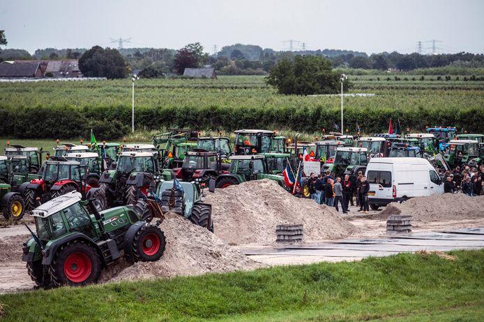 Boeren in actie in Nijmegen.