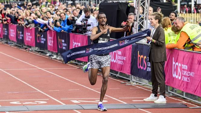Parcoursrecord Tola in marathon van Amsterdam, Nederlandse titels Choukoud en Van der Meijden