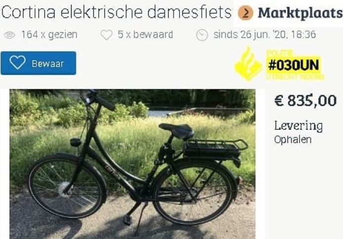 De eigenaar herkende zijn gestolen fiets.