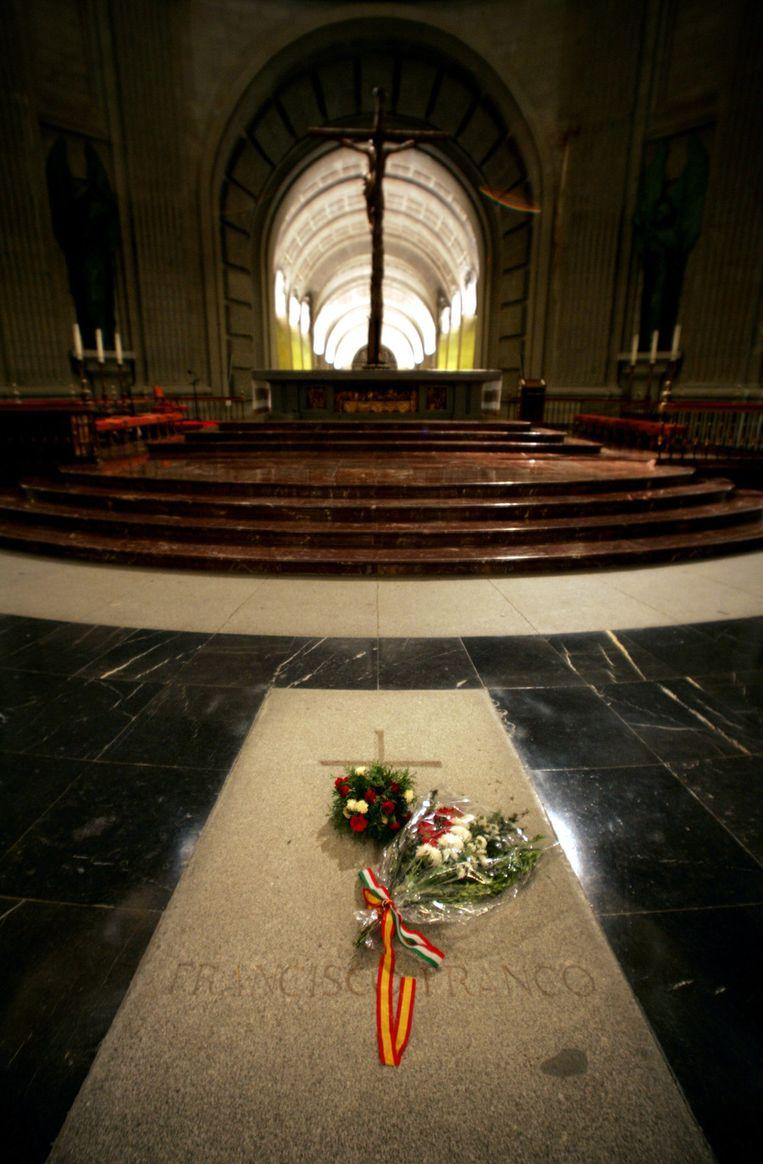 De graftombe van Franco. Beeld AFP
