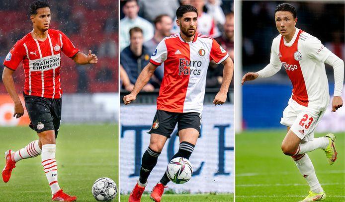 Ihattaren vertrekt uit de eredivisie, Jahanbakhsh en Berghuis komen dit seizoen uit in de Nederlandse competitie.