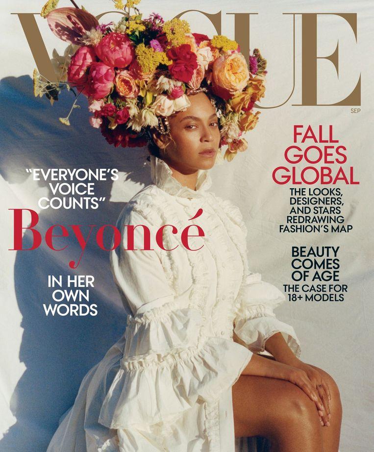 Beyoncé op de cover van de nieuwste Vogue Beeld Twitteraccount Vogue Magazine