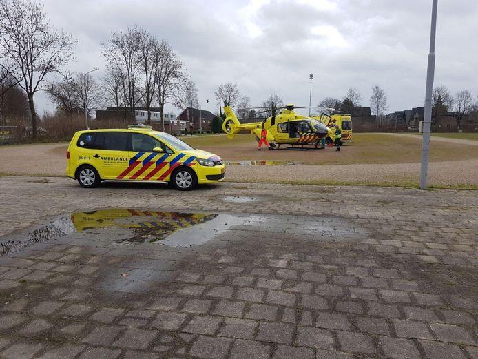 Een traumaheli landde vlak bij de plek van het ongeval