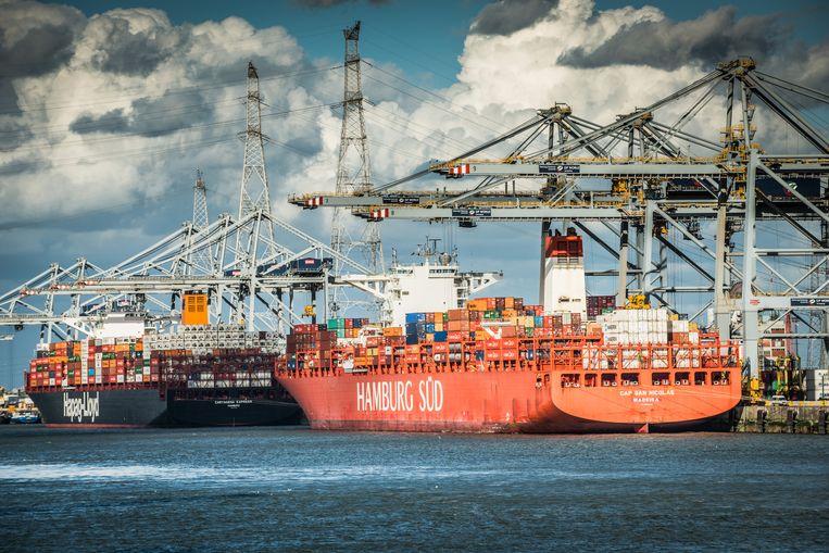 Containerschepen in de Antwerpse haven. Beeld © Bart Leye