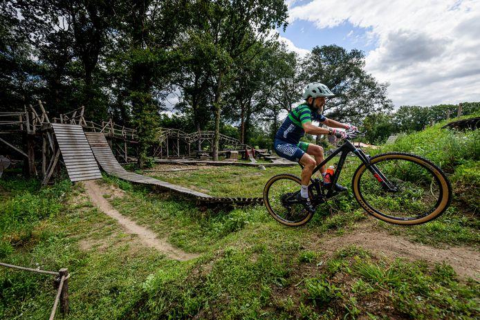 Het bikepark in Holten, het ongeluk van de man uit Putten vond plaats in een vergelijkbaar bikepark.
