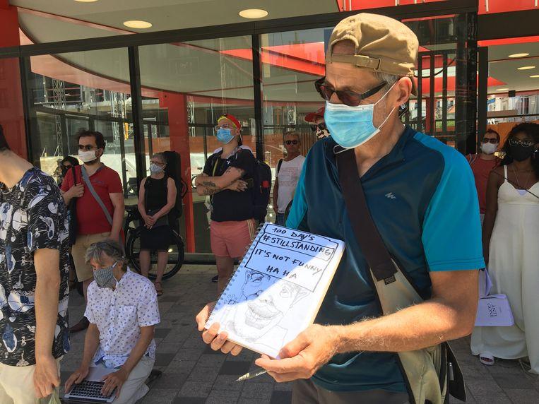 Protest in Antwerpen. Beeld MLS