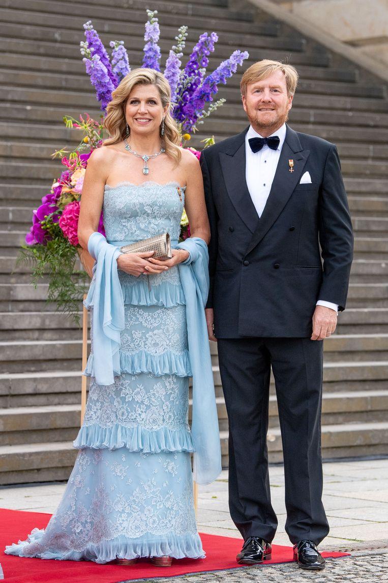 Koning Willem Alexander en Koningin Maxima tijdens het Staatsbezoek aan Duitsland. Beeld Brunopress